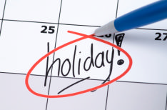 photo shows holiday planner